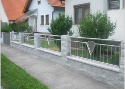 Schlosserei Strodl Zaun aus Edelstahl