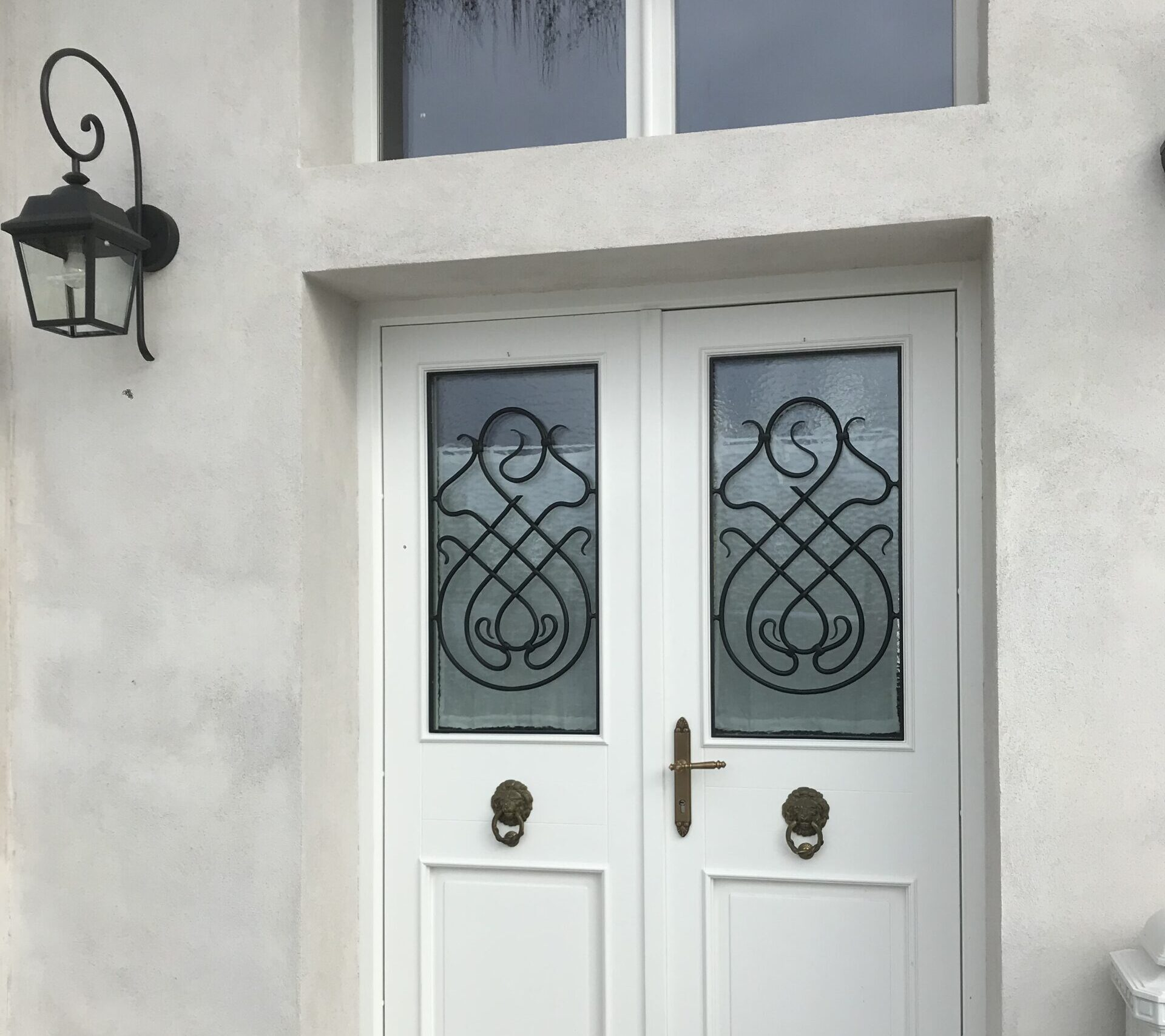 Schlosserei Strodl Gitter bei Eingangstüre
