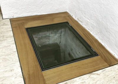 Schlosserei Strodl begehbarer Glasdeckel