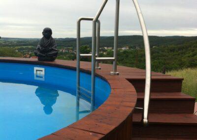 Schlosserei Strodl Einstiegshilfe Swimmingpool