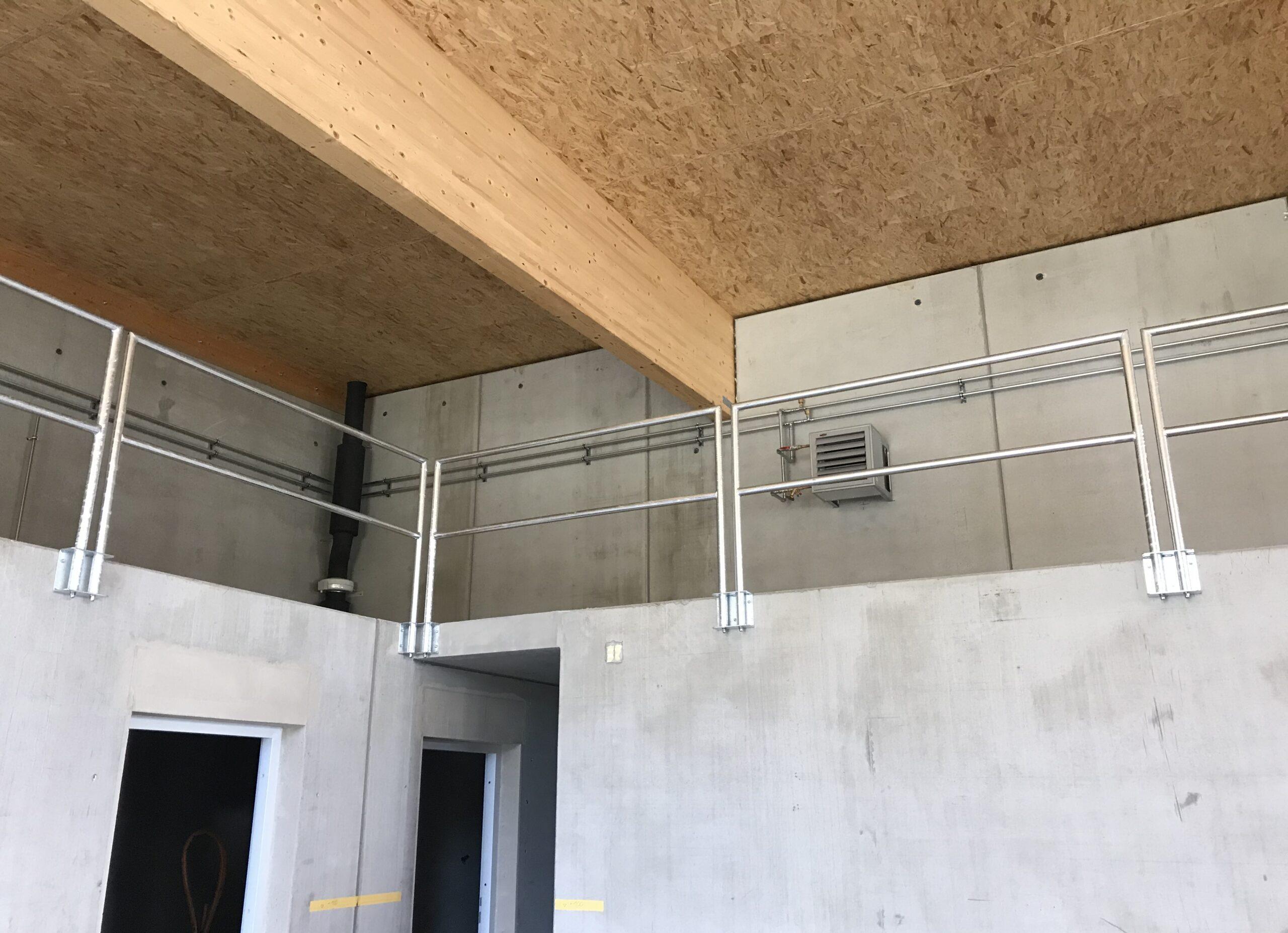 Schlosserei Strodl wegnehmbares Geländer aus Stahl